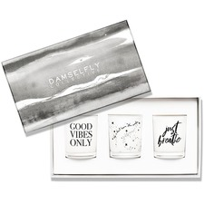 3 Piece Good Vibes Only Scented Candle Gift Set