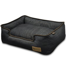 Brown & Denim Lounge Pet Bed