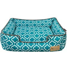 Teal Moroccan Lounge Pet Bed