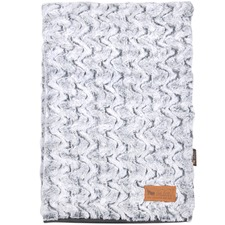 Grey Husky Snuggle Luxe Pet Throw