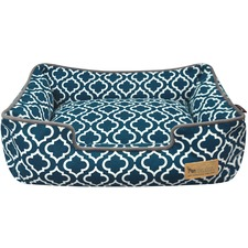 Navy Moroccan Lounge Pet Bed