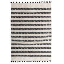 Black Pom Pom Matisse Tufted Rug