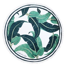 Banana Leaf Bahamas Cotton Round Towel