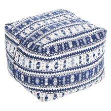 Amalfi Cotton Ottoman Cover