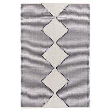 Blue Evie Woven Cotton Rug