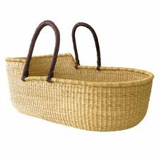Natural Fairtrade Moses Baby Basket & Mattress