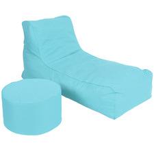 2 Piece Solid Foam Filled Lounger & Ottoman Set