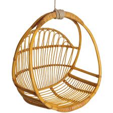 Goldie Rattan Hanging Swing Chair