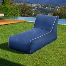 Navy Luxury Memory Foam Outdoor Lounge