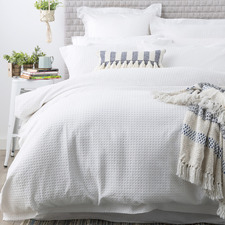 White Perennial Cotton Quilt Cover Set