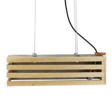 Rectangular Concrete & Timber Pendant Light