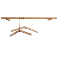 Dual Clothes Hanger & Rack Set