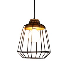 Abel Wood Cage Style A Pendant Light