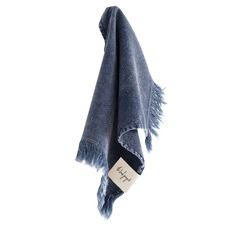 Indigo Stonewashed Cotton Bathroom Towels