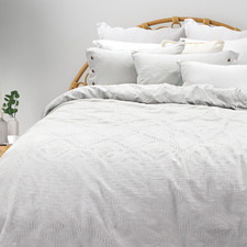 White Sienna Cotton Quilt Cover Set