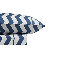 Chevron Thermal Flannelette Sheet Set