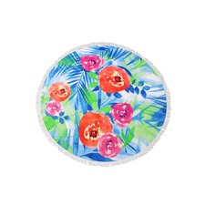 Island Paradise Round Cotton Beach Towel