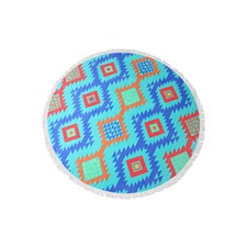 Mykonos Round Cotton Beach Towel