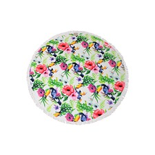 Tropica Round Cotton Beach Towel
