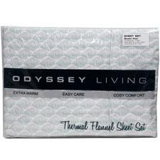 Shell Thermal Flannelette Sheet Set