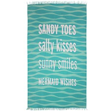 Sandy Toes Cotton Beach Towel