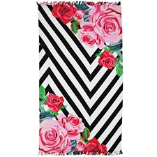 Rosa Cotton Beach Towel