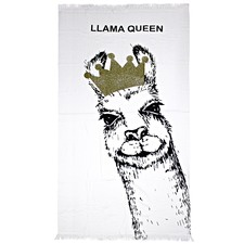 Llama Queen Cotton Beach Towel