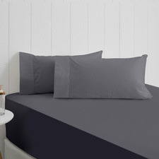 Charcoal Breathe Cotton Fitted Sheet
