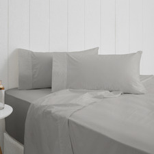 Pewter Breathe Cotton Sheet Set