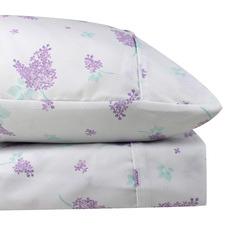 Lilac Heather Thermal Microfibre Flannelette Sheet Set