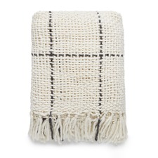 Natural & Charcoal Narvi Knitted Throw