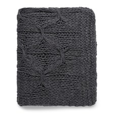 Charcoal Alka Knitted Throw