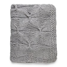 Silver Alka Knitted Throw