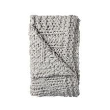 Silver Inaya Knitted Throw