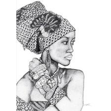 African Goddess Printed Wall Art
