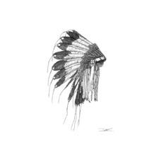 Native American Headdress Printed Wall Art
