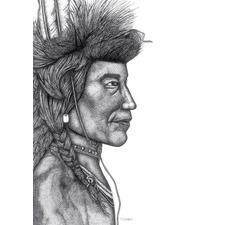 Native American Chief Printed Wall Art