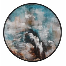 Mountain Sky Framed Round Wall Art