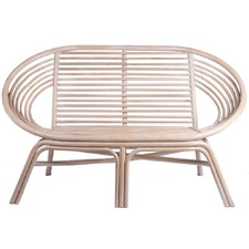 White Wash Rattan Double Eden Chair