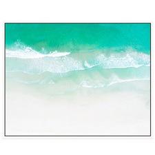 Seafoam Waves Canvas Wall Art