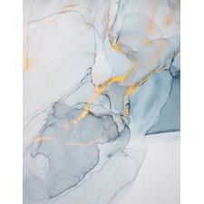Blue Fluid B Unframed Canvas Wall Art