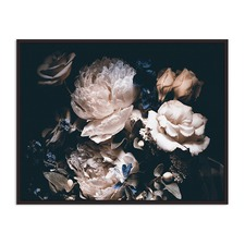 Peach Midnight Bloom Canvas Wall Art