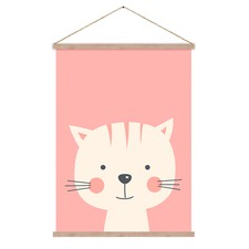 Casey Cat Canvas Hanging Scroll