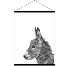 Molly Mule Donkey Canvas Hanging Scroll