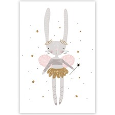 Delila the Fairy Bunny Canvas Wall Art