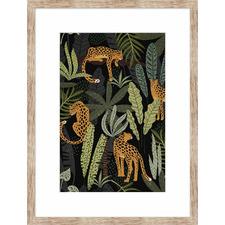 It's a Jungle Life Tigers Framed Printed Wall Art