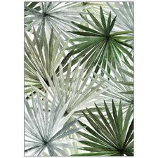 Palm Fronds Framed Canvas Wall Art