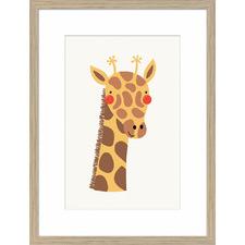 Junior Rosy Cheek Giraffe Framed Printed Wall Art