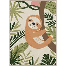 Junior Cling-On Sloth Framed Canvas Wall Art