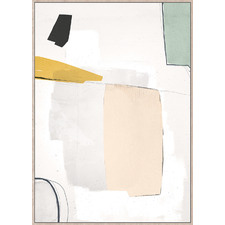 Abstract C Framed Canvas Wall Art